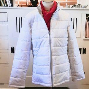 Faded Glory White Puffer Coat